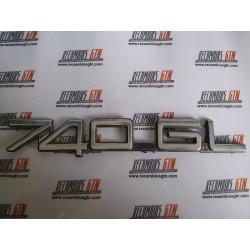 Volvo 740. Anagrama metal 740 GL