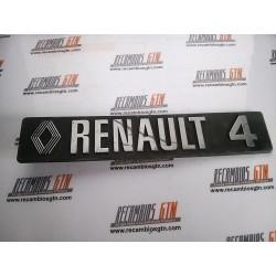 Renault 4. Anagrama trasero Renault 4