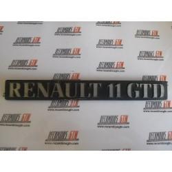 Renault 11. Anagrama Renault 11 GTD