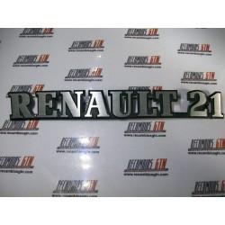 Renault 21. Anagrama metalico