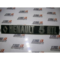 Renault 5. Anagrama metalico Renault 5 GTL