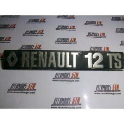 Renault 12. Anagrama metalico Renault 12 TS