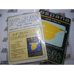Mapa de carreteras y libro señales de trafico