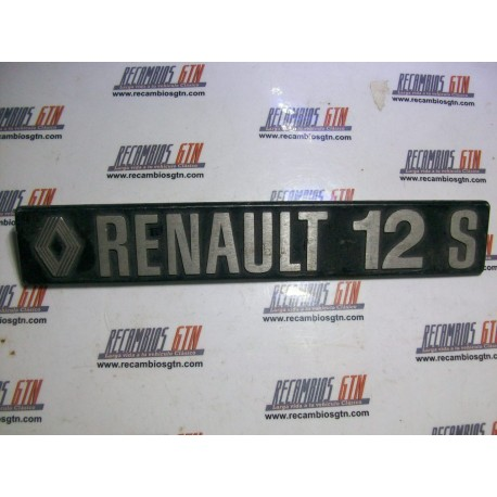 Renault 12 S. Anagrama metálico Renault 12 S
